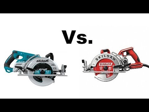 Skil Worm drive Circular saw VS Makita 36 Volt LXT  (You decide who wins!)