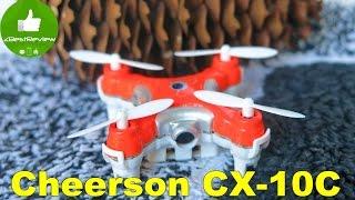 ✔ Cheerson CX-10C нано квад с камерой -Обзор на Русском! Banggood!