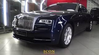 Rolls Royce Wraith. Полное оклеивание кузова в пленку.