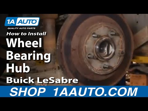 How To Replace Rear Wheel Bearing & Hub 00-05 Buick LeSabre
