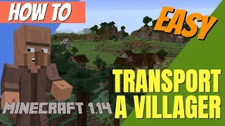 How To Find, Get And Move A Villager In Minecraft 1.14: Minecraft Villager Transport (Avomance 2019)