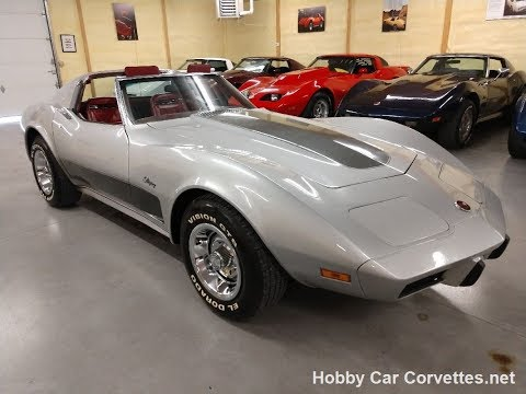 1975 Silver Corvette Stingray For Sale Video