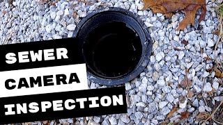 MAIN SEWER LINE CAMERA INSPECTION REVEALS ISSUES
