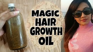 Get LONG And THICK Hair FAST, Stop Hair Fall | DIY Homemade HAIR GROWTH OIL