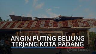 Angin Puting Beliung Landa Kota Padang, Atap Toko di Aie Pacah Terbalik