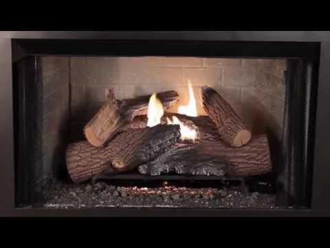 Superior Fireplaces - Rugged Stack Gas Logs Burn Video