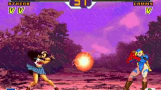Kung Fu Girl, Athena, Sakura and Wonder Woman vs Chizuru, Shermie, Cammy and Morrigan