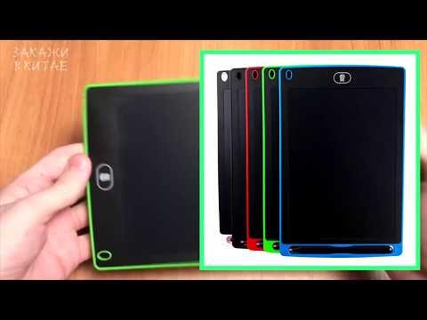 """Планшет для рисования детский Writing Tablet LCD 8.5"""" зелёный (E-18610) Video #1"""