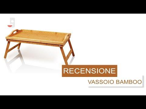 Come fare la colazione a letto - RECENSIONE Vassoio in Bamboo LUMALAND