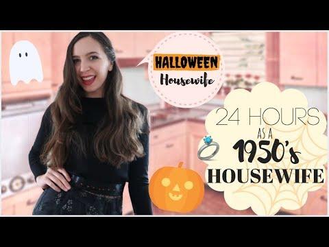 I Lived Like A 1950s Housewife For 24 HOURS HALLOWEEN RECIPES