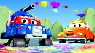 Трансформер Карл и Карл танк в Автомобильном Городе| Мультик про грузовички для детей