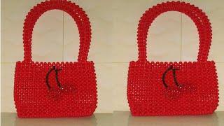 How to make beaded bag for newcomers/putir bag/পুতির ব্যাগ/মুক্তা পুতির ব্যাগ