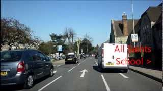preview picture of video 'A drive through Maidstone town from Tovil to Grove Green.'