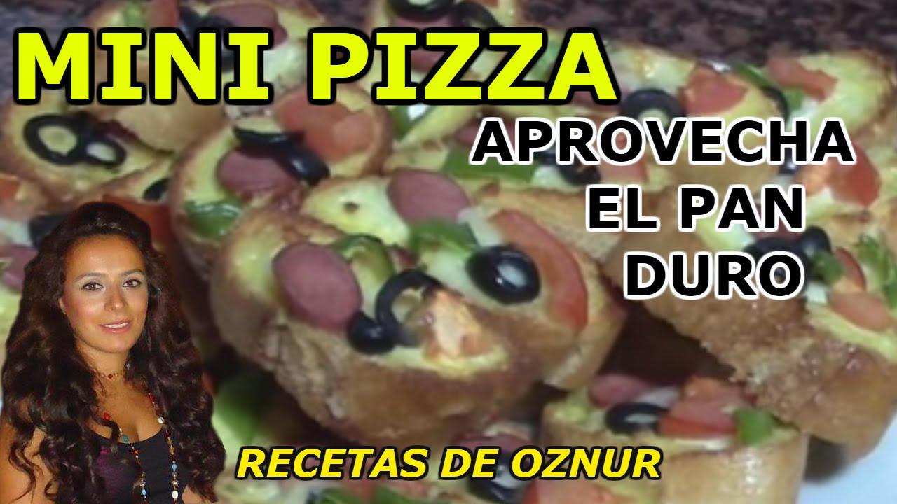 MINI PIZZAS | recetas de cocina faciles rapidas y economicas de hacer - comidas y cenas ricas