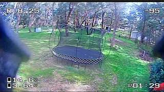 Backyard rip... progress (RAW FPV DVR)