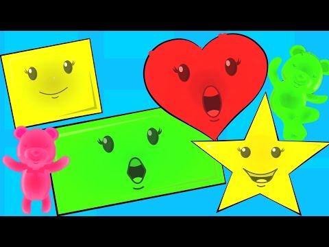 dar forma a la canción   aprender formas en español   canciones infantiles