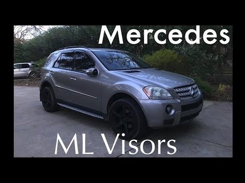 Mercedes ML Window Visors Installation W164