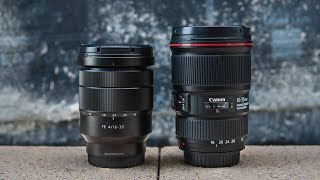 Sony Zeiss 16-35 f4 vs Canon 16-35 f4