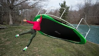 MY TRAMPOLINE BLEW AWAY!! - Video Youtube