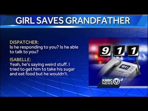 Girl's 911 call helps save grandfather's life