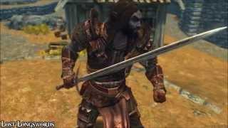 LOST LONGSWORDS MOD длинные мечи для Skyrim 5