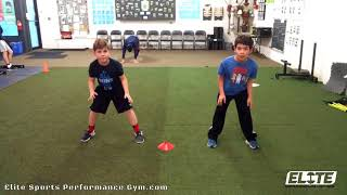 Youth Athletes Working Agility, Body Control, and Quickness