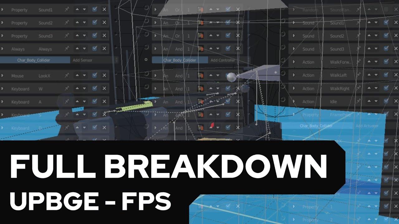UPBGE - FPS Full Breakdown [German/Deutsch]