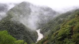 絶景祖谷渓雨降り、四国観光地、徳島、観光、一人旅、マイナスイオン