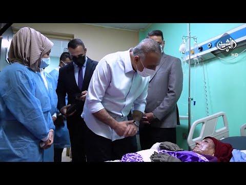 شاهد بالفيديو.. الكاظمي يتفقّد جرحى التفجير الإرهابي في مدينة الصدر