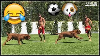 Lionel Messi playing football with his dog ⚽🐶
