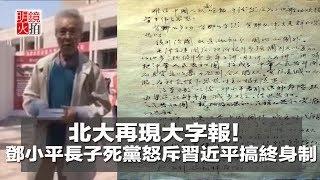 北大再現大字報!鄧小平長子死黨怒斥習近平搞終身制(《新聞時時報》2018年5月8日)