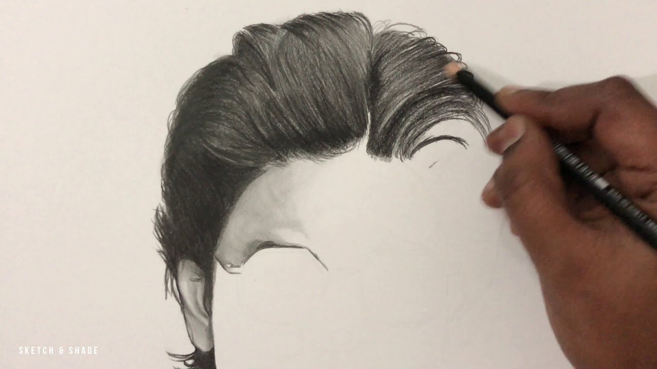 portrait drawing of shah rukh khan by sketch and shade
