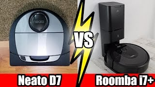 Roomba i7+ vs Neato D7 - TESTS - Robot Vacuum Wars