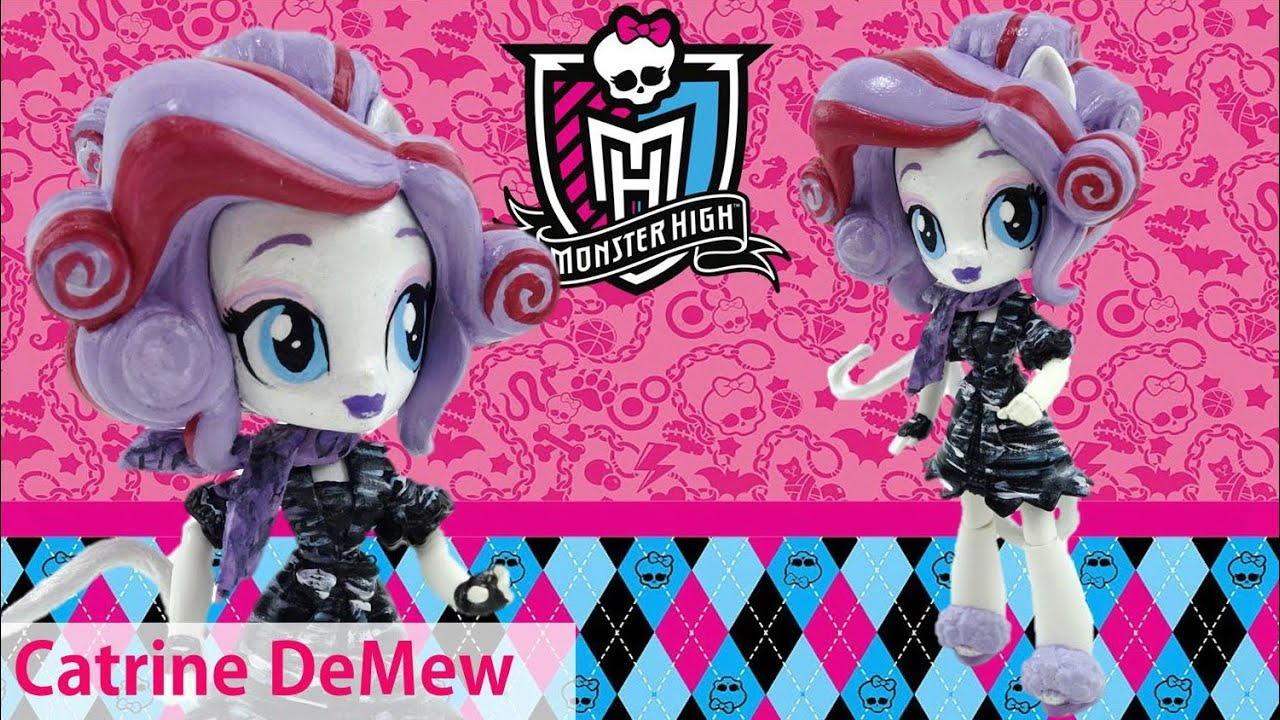 Catrine DeMew New Custom Monster High Doll from Equestria Girl Mini Tutorial | Evies Toy House