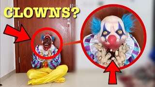 when you see this Crying Clown do not approach him! (RUN Away Fast!!)