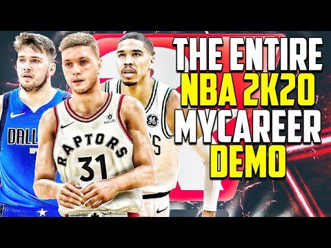 The Entire NBA 2K20 My Career Demo Except There Is No My Career