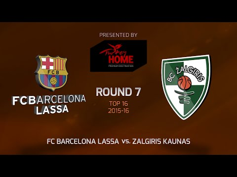 Highlights: Top 16, Round 7, FC Barcelona Lassa 92-86 Zalgiris Kaunas