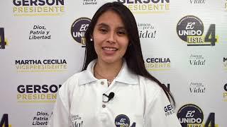 Valeria Cañizares, Candidata Para Parlamento Andino del Ecuador 2021.