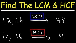 How To Find The LCM and HCF Quickly!