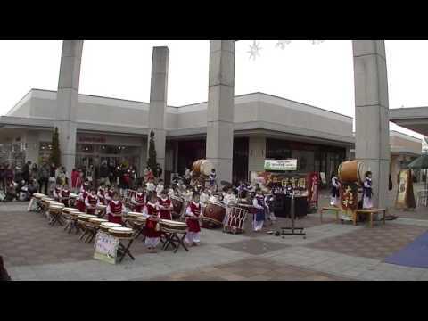 筑西市大和保育園和太鼓演奏「挨拶作法」