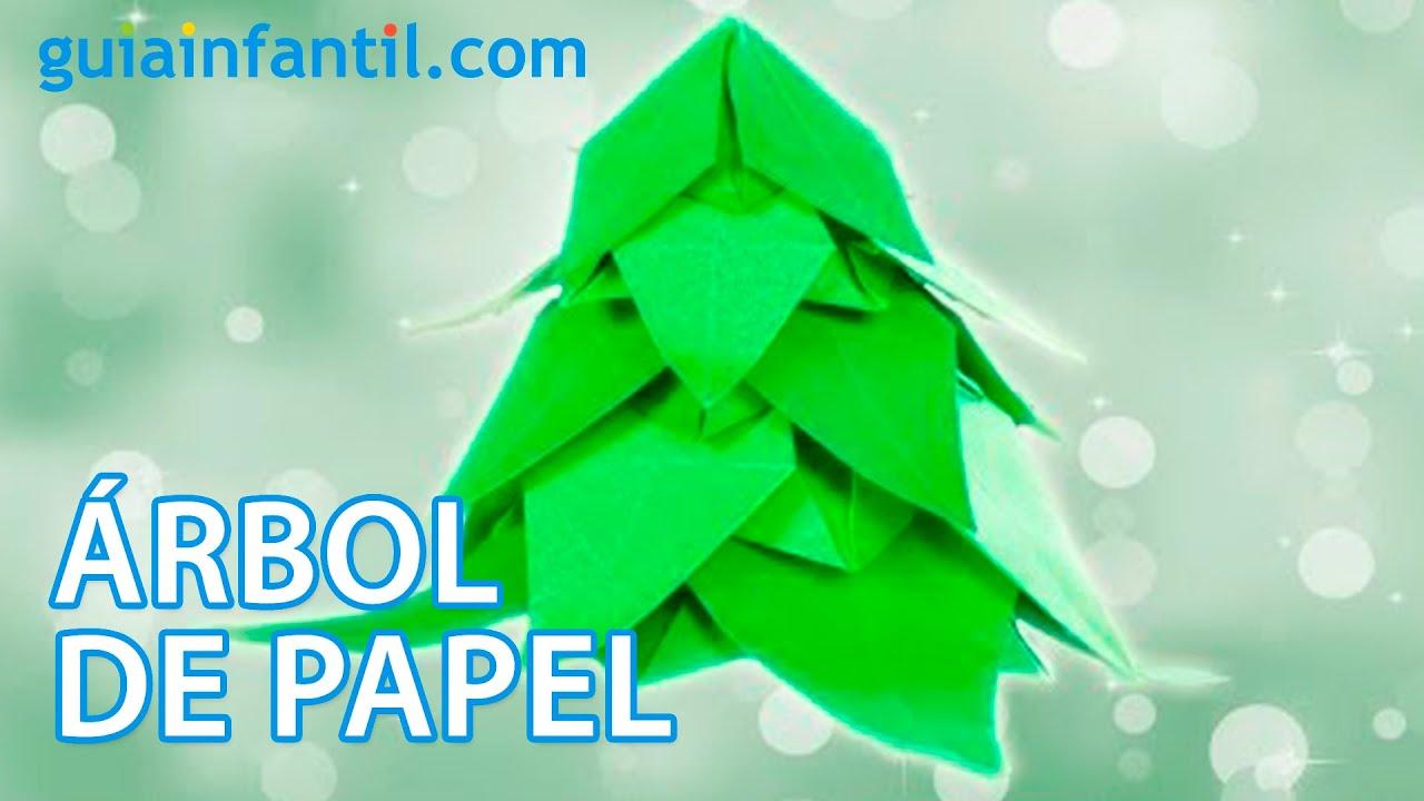 Árbol de Navidad. Origami para decorar la casa
