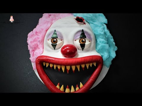 Creepy/Scary Clown Halloween Cake Tutorial!