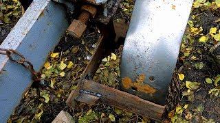 Чистик на опорное колесо плуга для вспашке по мокрой земле