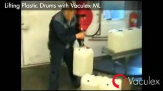 Lifting Plastic Drums with Vaculex ML