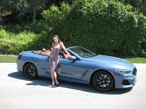 "2019 BMW M850xi Convertible in Barcelona Blue / 20"" Black M Wheels / Exhaust Sound / BMW Review"