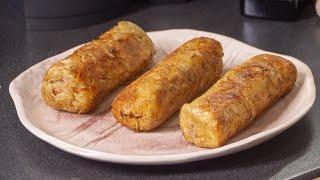 Жареные Сосиски в картошке.