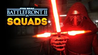 Star Wars Battlefront 2 Squads - EPIC Heroes vs Villains Light vs Dark Side Gameplay!