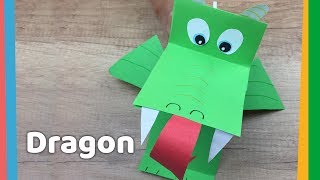 Paper Dragon DIY With Breathing Fire - Simple And Funny Crafts To Do With Kids