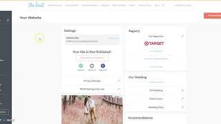 Update Location and URL on Wedding Website