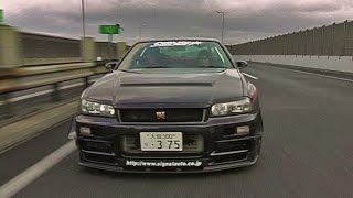 Fun on the Japanese highways with Skyline GTR R34!